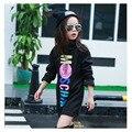 El diseño de la nueva primavera y otoño ropa de niños ropa larga de la Camiseta 2016 de los niños (4-8 años de edad) ropa de la muchacha/