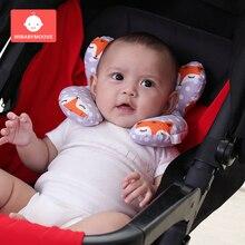 Soft Baby Headrest Pillow Stroller Pram Pillows Infant Safety Seat Neck Support U-shaped Neck Pillow Kids Travel Sleeping Pillow все цены