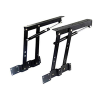 2PCS Folding Lifts Up Top Table Mechanism Hardware Fitting Hinges Spring Standing Desk Frames
