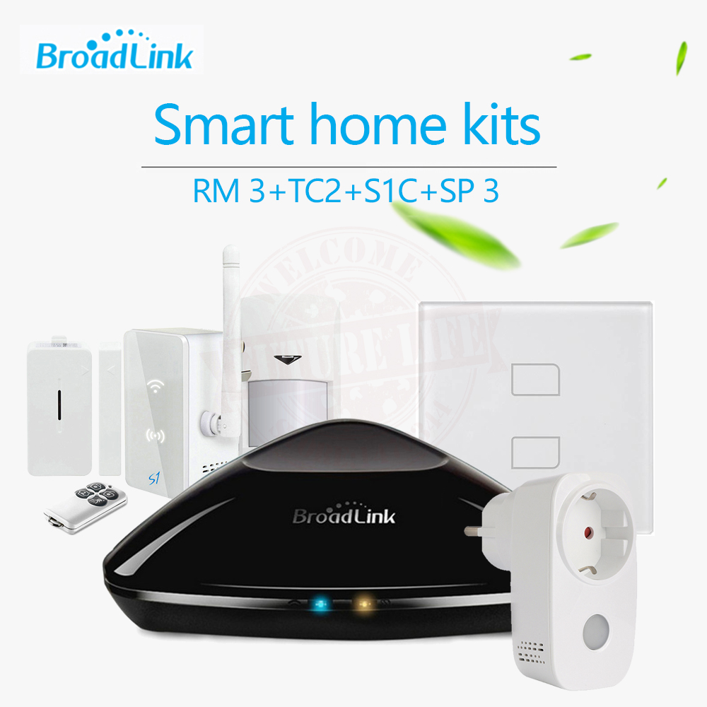Smart Home Automation Kit Broadlink S1/S1C TC2 2 Gang Wifi Light Switch Smart RM2 RM Pro Universal Intelligent Controller SPmini