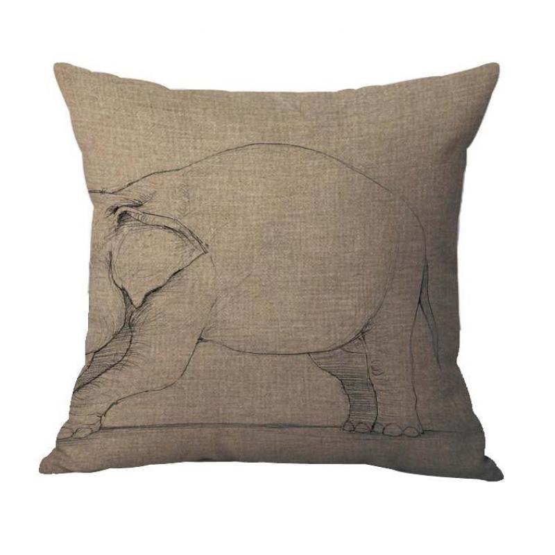 45 45 Cm Home Decor Retro Animal Dinosaurs Printing Cotton