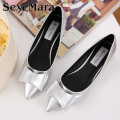 Fashion bow pointed toe women flats woman flat shoes ballet flats for ladies