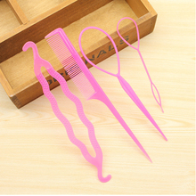 New Combo (4Pcs) Hair Disk With Pull Hair Pins Comb