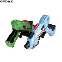 2Pcs Kids Digital Electric Laser Tag Toy Guns With Flash Light & Sounds Effect Live CS Battle Shooting Games Kids Xmas Toy Guns