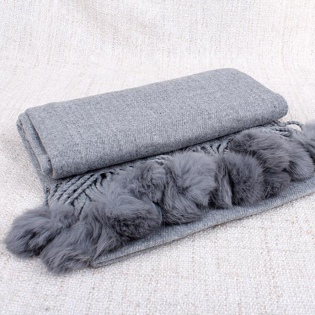 Mulheres Cachecol de inverno de Grandes Dimensões Mulheres Mistura de Algodão Macio Lenço Com Borlas Bola Sólida Bonito Estilo bufandas cachecol feminino