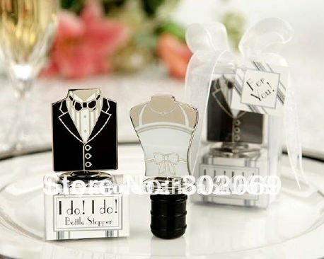 Wedding Gift Bride and Groom Bottle Stopper Wedding Gift Favors 10set ...