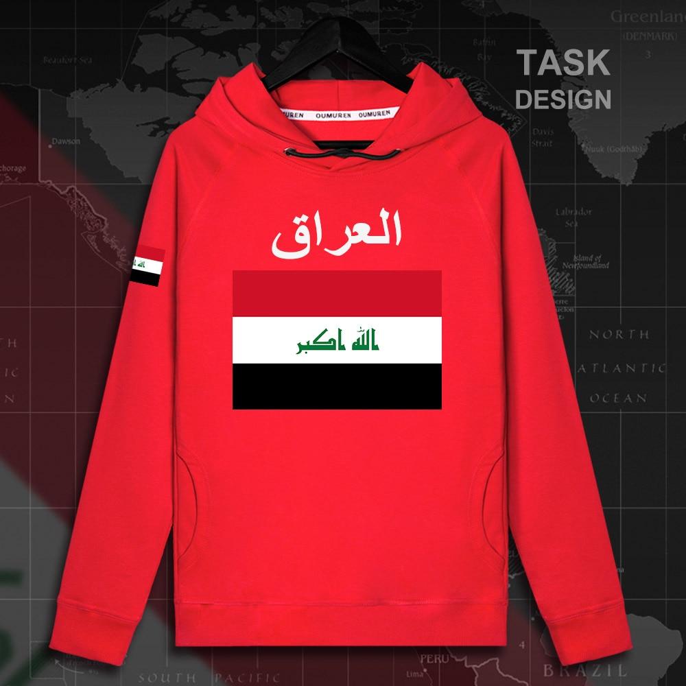 Republic Of Iraq Iraqi Iraqi IRQ Mens Hoodie Pullovers Hoodies Men Sweatshirt Streetwear Clothing Hip Hop Tracksuit Nation Flag