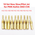 Slow/Pilot Jet For PWK Keihin OKO CVK Carburetor Vice injectors 32,35,38,40,42,45,48,50,52,55 (10pcs Set)