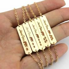 LET IT BE Mama Bear Bracelets for Women 2017 Hot Selling Love Bar Charm Bracelets & Bangles Gold Silver Mother's Day Gift