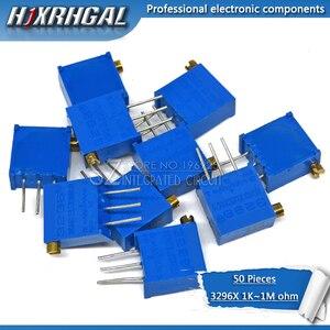 50Pcs 3296 3296X Serie Resistanceohm Trimpot Trimmer Potentiometer 1K 2K 5K 10K 20K 50K 100K 200K 500K 1M Ohm 100R 200R 500R