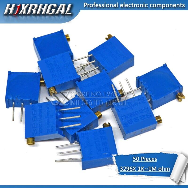 50pcs 3296 3296X series resistanceohm Trimpot Trimmer Potentiometer 1K 2K 5K 10K 20K 50K 100K 200K 500K 1M ohm 100R 200R 500R
