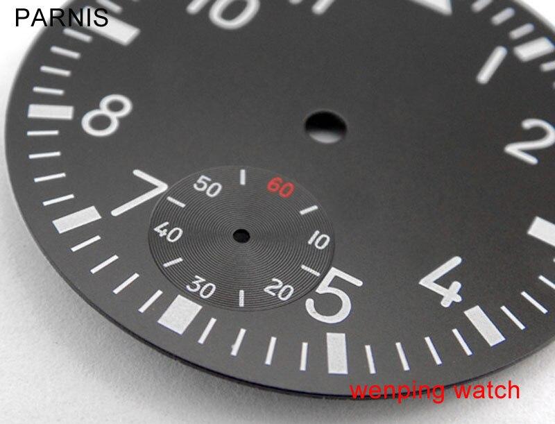 100% Wahr Parnis 38,9mm Schwarz Zifferblatt Fit Eta 6498 Oder Asien St3620 Bewegung Herren Uhr P35 Herausragende Eigenschaften