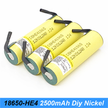 18650 HE4+stripe 2500mAh Battery 18650 3.7V Rechargeable battery Max 20A,35A discharge For  E-cigarette power tools