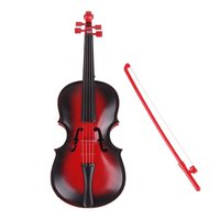 5 PCS of (Red kids Educational Creative Gift Toys Simulation Led Violin Musical Toy Batteries not included)