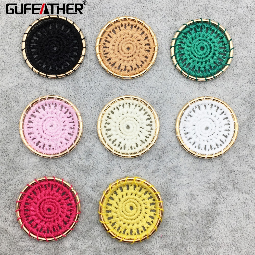 GUFEATHER M223,patches For Clothing,round Shape,hand Made,jewelry Findings,jewelry Making,diy Jewelry,home Decorative,10pcs/pack