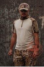 Tactical military t-shirt men short-sleeved T shirt wicking T shirt python camouflage t-shirt M-XXL