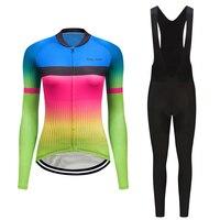 Teleyi frauen pro radfahren jersey set 2020 rennrad kleidung fahrrad kleidung skinsuit anzug outdoor kleid sport tragen Sporting kit-in Fahrrad-Sets aus Sport und Unterhaltung bei