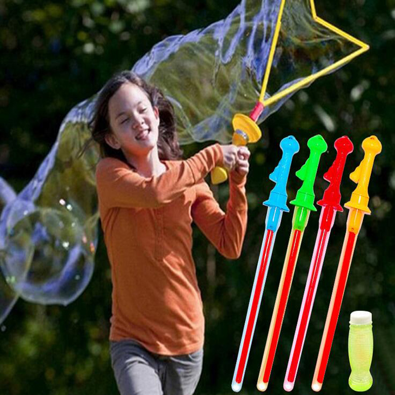 Outdoor Baby Kids Play Toy Bubble Sword Wand Color Random Water Fun
