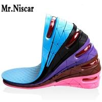 ミスター。niscar通気性3層7センチエアバブルクッション靴リフト高さ増加ヒールインソールペア背が高いため男性と女