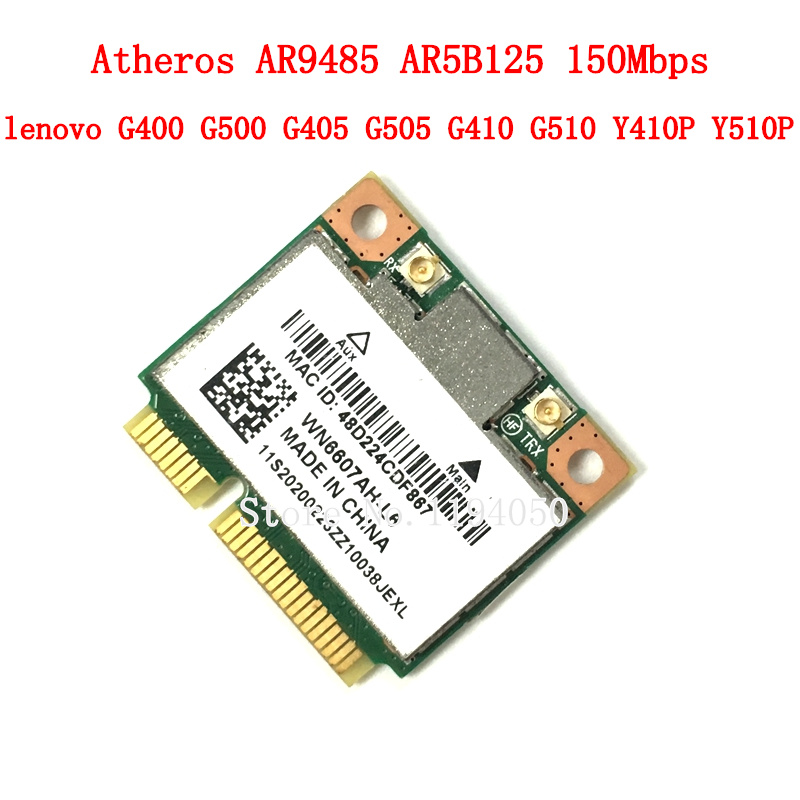 Lenovo G400 G500 G405 G505 G410 G510 Y410P Y510P Atheros AR9485 AR5B125 Half Mini PCI-Express PCIe Wlan Wifi Wireless  Card