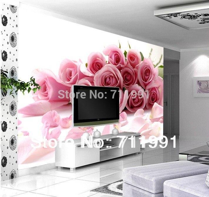 Free shipping custom modern 3D mural TV living room sofa backdrop ...