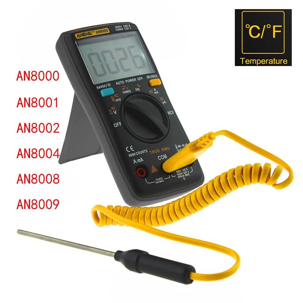 ANENG AN8009 Mult/ímetro digital Rango autom/ático Verdadero RMS Mult/ímetro electr/ónico de voltaje CA//CC