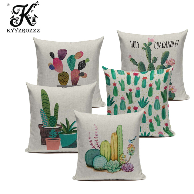 Watercolor Cactus Pillowcase