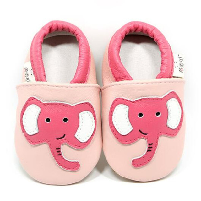 Soft Leather Baby Boys Girls Infant Shoes Genuine Leather Elephant Slippers First Walkers chinelo infantil chausson enfant cuir