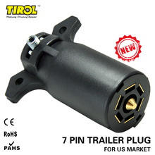 TIROL 7 Way Trailer Plastic Plug 7 Way RV Blade Connector Trailer Adapter 12V Tow bar Towing – Trailer End