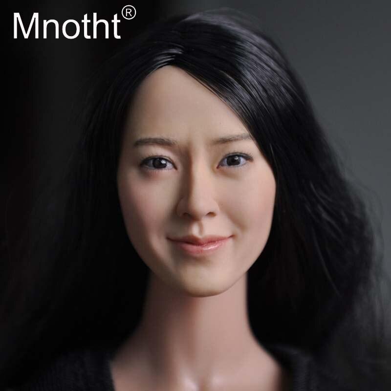 Mnotht 1/6 échelle femme soldat tête sculpter asie femmes tête sculpture diverses sortes modèle pour 12 pouces Action Figure jouet Collection