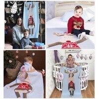 Baby Blanket Newborn Deer Elk 3D Soft Warm Knitted Swaddle Wrap Toddler Infant Bedding Quilt Bath Towel Cover Christmas Sheet