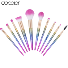 New Arrival Docolor 10PCS Makeup Brushes Fantasy Set Foundation Powder Eyeshadow Kits Gradient color makeup brush set