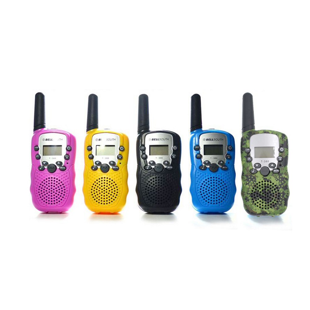 2 Pieces T388 Mini Walkie Talkie Kids Radio 0.5W UHF 462-467MHz 22CH Portable Radio Station Handheld Radio Gift