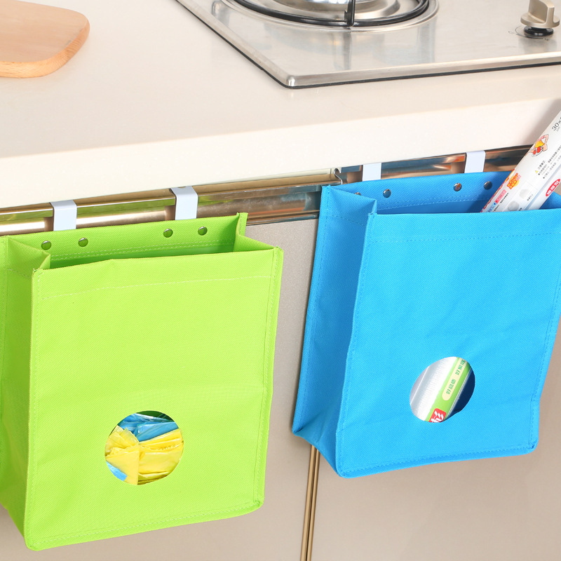 US $3.21 50% OFF|Creative Portable Hanging Kitchen Garbage Rubbish Storage  Bag Cupboard Trash Sink Hangable Cabinet Door Back Organizer Tools-in Bags  ...