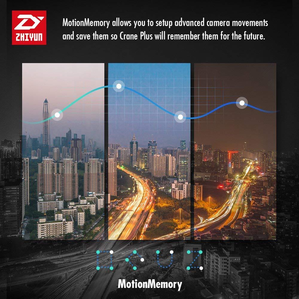 Zhiyun Crane Plus 3 Axis Handheld Gimbal for Sony Canon DSLR Mirrorless Camera 5.5lb Payloadaa Timelapse Object Track FPV POV Mode2112