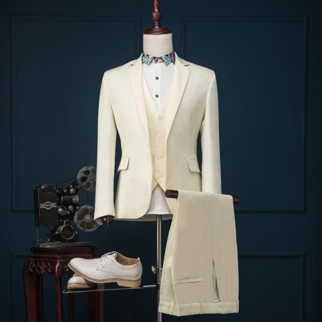 2016 moda para hombre trajes de negocios blanco ocasionales adelgazan blazers mujer set vestido formal del novio boda formal traje