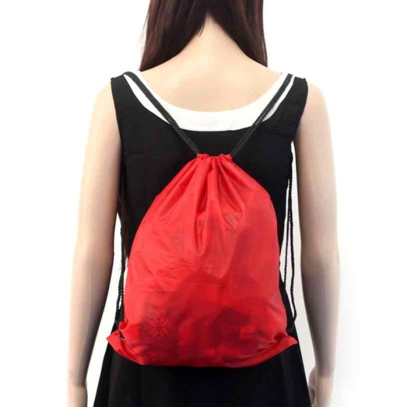 2015 Hot Venda Nylon Cordão Cinch Saco Praia Sacos Mochila de Viagem bolsas feminina Para Mulheres Dos Homens