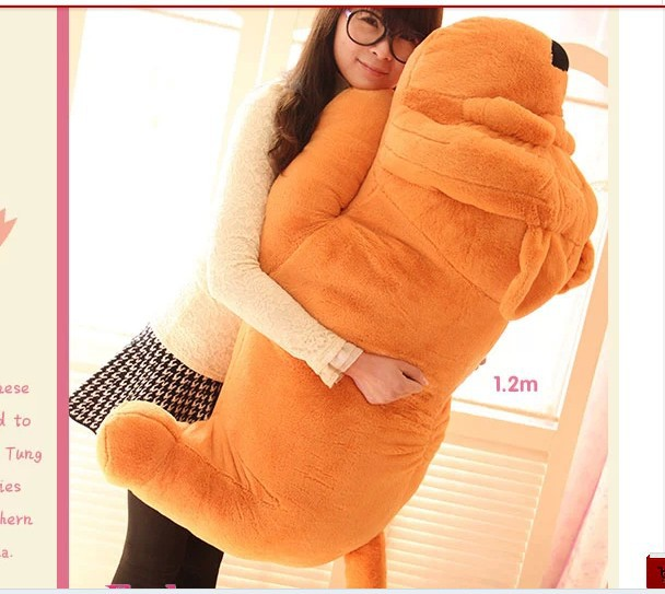stuffed animal shar pei dog plush toy about 120cm Lies prone dog  doll 47 inch throw pillow toy b9221 stuffed animal 120 cm cute love rabbit plush toy pink or purple floral love rabbit soft doll gift w2226