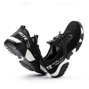 Image 4 - ฤดูร้อน2020ผู้ชายทำงานความปลอดภัยรองเท้าน้ำหนักเบาBreathable Casualรองเท้าผ้าใบป้องกันเจาะป้องกันBoots4