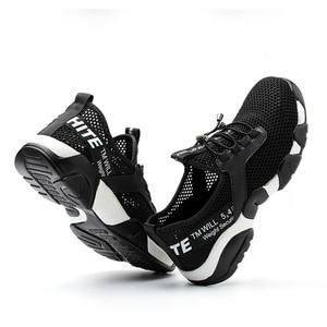 Image 4 - קיץ 2020 גברים פלדה הבוהן עבודה בטיחות נעליים קל משקל לנשימה רעיוני מקרית Sneaker למנוע פירסינג מגן boots4