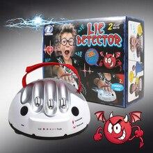 Игрушечный детектор лжи забавные полиграфические игрушки Полиграф Тест Электрический шок детектор лжи шокирующий лжец истина игра