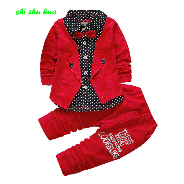 Fashion Childrens Clothing Sets Gentleman Baby Birthday Party Dress 1 4years Old Boy Girls High Quality Suits