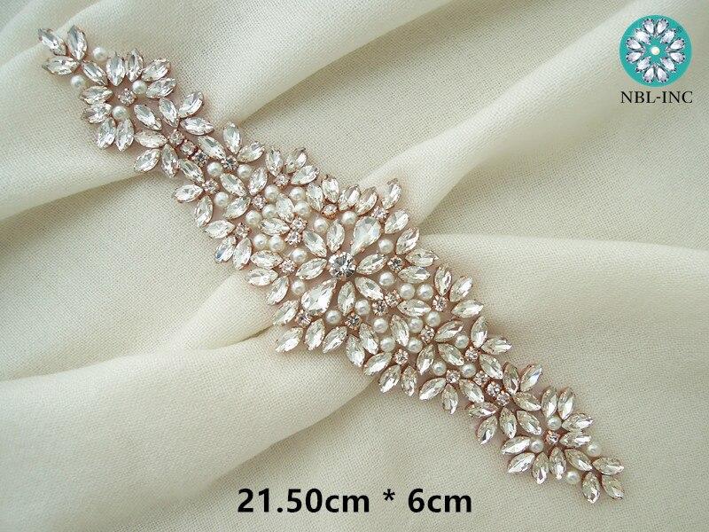 (30 pièces) en gros mariée perlée couture strass perle applique pour robes de mariée ceinture fer bricolage sur WDD0404-in Strass from Maison & Animalerie    3