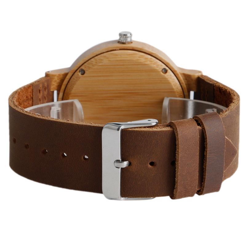 Fashion Cool Gray / Brown Dial Wood Watch meestele, kellel on ehtne - Meeste käekellad - Foto 4
