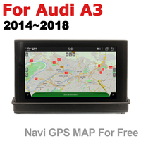 "hd מסך 7"" HD Pop up מסך סטריאו אנדרואיד רכב GPS Navi מפה אאודי A3 8V 2014 ~ 2018 MMI מקורי סגנון נגן מולטימדיה לרכב רדיו (4)"