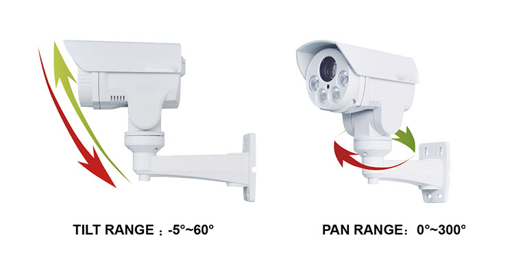 D WDR Weatherproof CCTV Camera Full-HD 1080P 2 Megapixel Outdoor Bullet 10X Optical Zoom Mini IP PTZ Camera 80m IR Distance