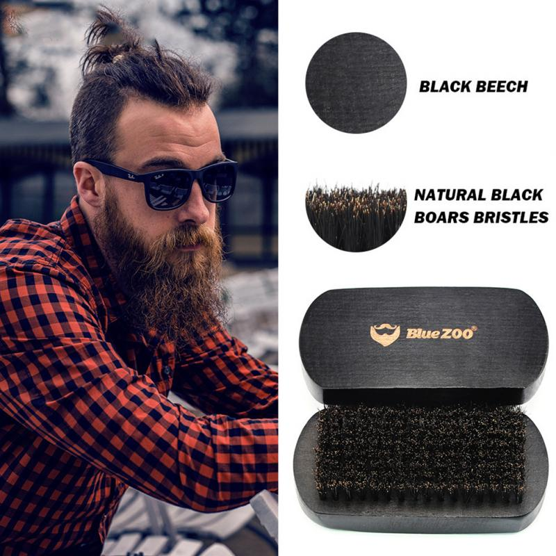 7pcs/set Men Beard Grooming Kits Beard Oil Mustache Moisturizing Wax Mustache Balm Beard Oil Essence Styling Comb Beard Care Set 4