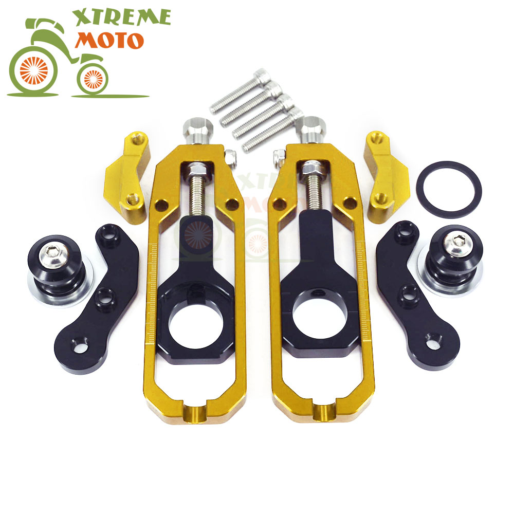 Motorcycle CNC Chain Adjusters Tensioners With Spool Fit for KAWASAKI ZX10R ZX 10R 2011-2014 11 12 13 14 2011 2012 2013 2014 2011 2014 100