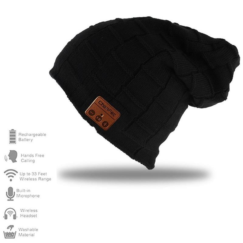Bluetooth Music Hat Popular Fashion Warm Soft Winter Sport Hat Wireless Bluetooth Headset Headphone Smart Cap with Speaker Mic