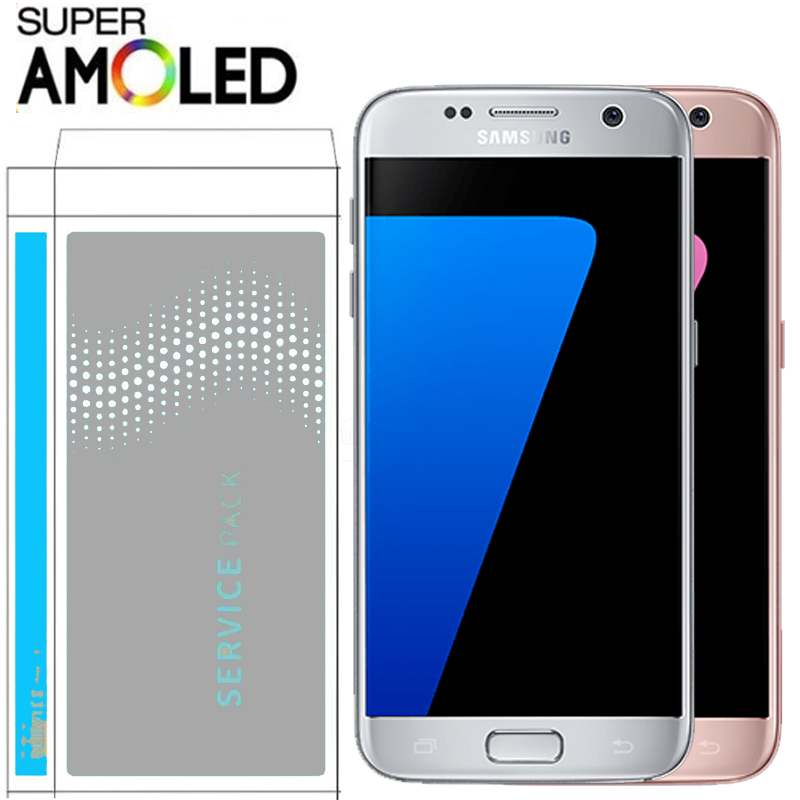 ORIGINAL with Burn Shadow LCD with frame for SAMSUNG Galaxy S7 G930 G930F Display Touch Screen
